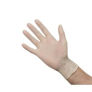 Latex handschoenen wit poedervrij S
