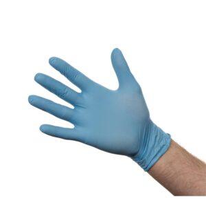 Nitril handschoenen blauw poedervrij S