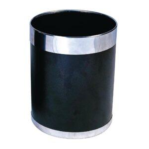Bolero prullenbak zwart met zilveren rand 10,2L